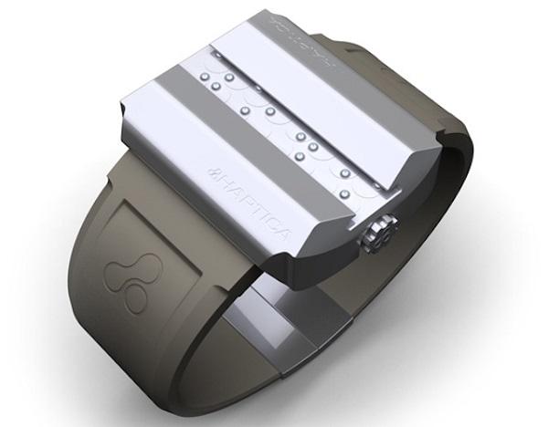imagem do protótipo do relógio haptica