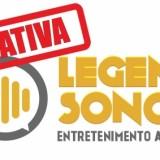 imagem do logotipo do legenda sonora com um carimbo vermelho escrito iniciativa na parte superior diagonalmente