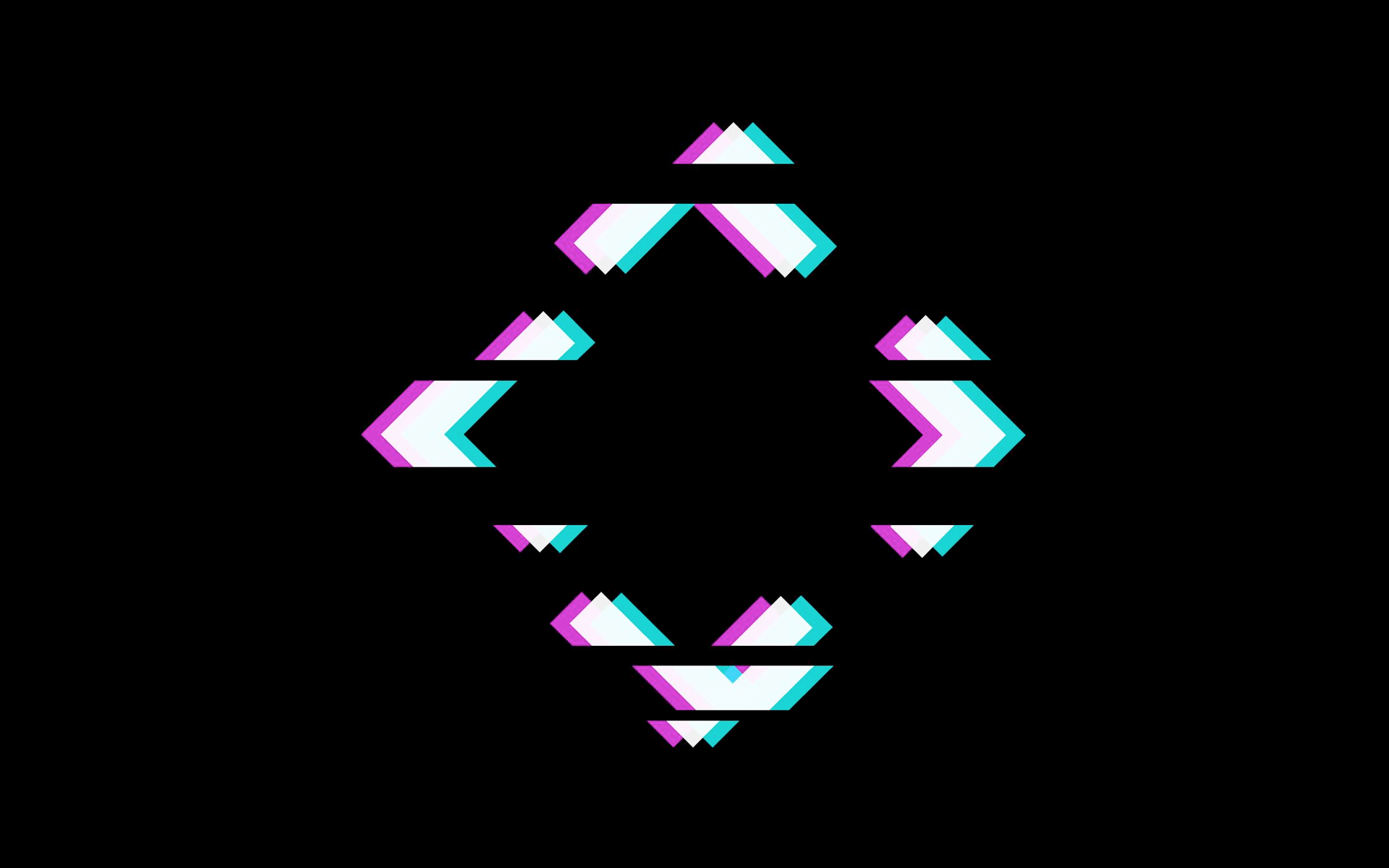 imagem do logo do anticast, um losango com apenas as pontas desfigurado em linhas horizontais